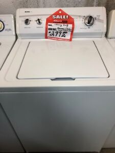 LARGE SELECTION OF TOP LOAD WASHERS  IN STOCK