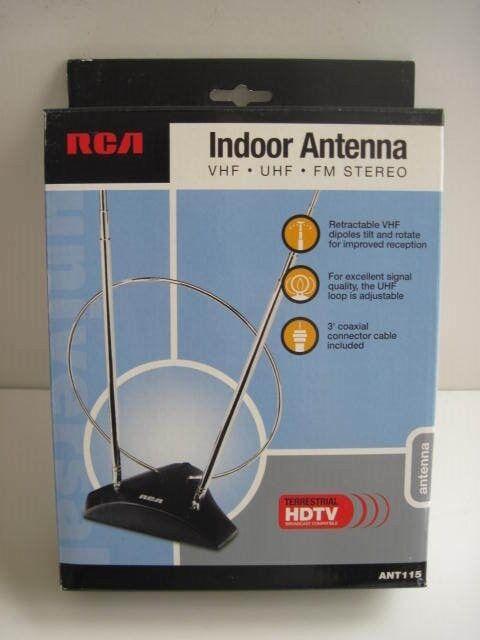 NEW RCA Indoor TV Antenna VHF UHF FM Stereo ANT 115