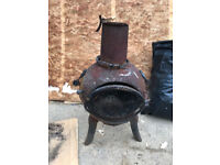 chimera wood burner old cast iron garden planter