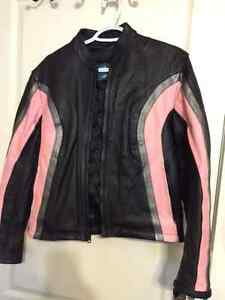 Woman's Leather Motorcycle Jacket (Medium/fits as a small)