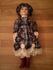 Vintage Porcelain doll, 20 years old, unused, boxed
