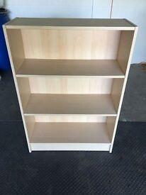Bookcase - 3 Shelves - Approx 105 cm x 80 cm x 30 cm