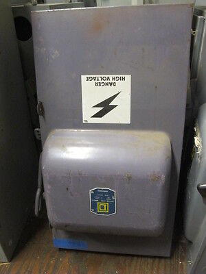 Square D A47415 400 Amp 240 Volt Fusible 3 Phase Vintage Disconnect A Series