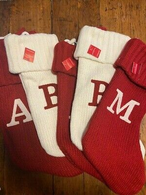 Knit Christmas Stockings (Wondershop Initial Monogram 19