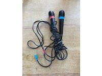 PlayStation 2 Singstar (x2) Microphones PS2