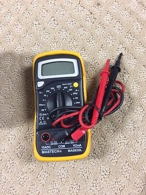 Mastech Mas830l Digital Multimeter- Complete In Box - Take A Look At This -p14c
