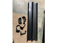 Black square guttering and 5 fittings - New