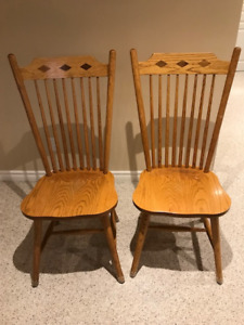 6 Woodcraft Harvest Table Spindle Chairs