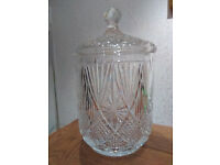 Tyrone Crystal Biscuit Barrel