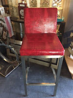 Red Ritz Bar Chairs ** 3 In Stock** Amazing Colour!!