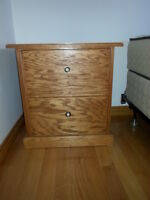 Hand Made Night Table - Solid Oak