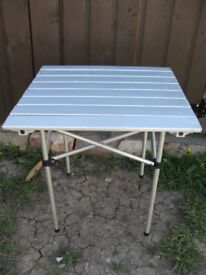 Camping table folding aluminium Price reduced