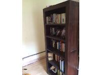 Dark Wood bookcases X 2