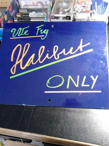 PRICE REDUCED - Very unique porcelain sign.