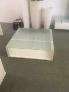 White gloss/glass coffee table Albany Creek Brisbane North East Preview