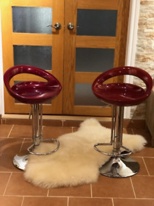 tabourets de bar rouges/red bar stools