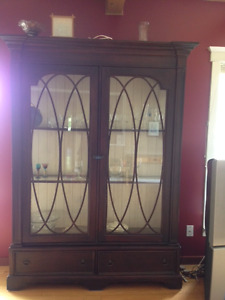 beautiful hutch and dining room set