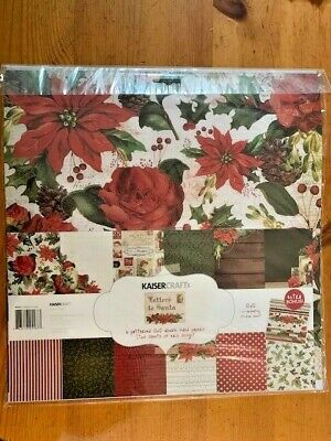 """Kaisercraft Letters To Santa 12""""x12"""" Collection Pack, unused, PK567"""