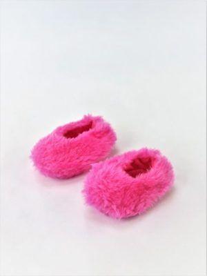 Hot Pink Fuzzy Slippers (Hot Pink Fuzzy Slippers Fits Wellie Wishers 14.5