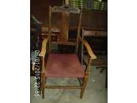 Antique Tall Backed Carver Chair