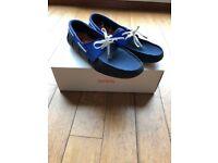 Men's Swims shoes. Colour Dark Blue with white laces.