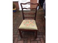 Bedroom / Occasional chair with tapestry seat