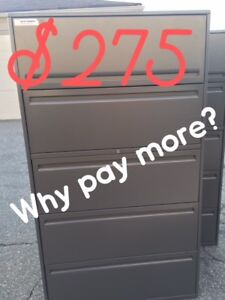 5 DRAWER FILE CABINETS, MANY, PLAN FILE, OFFICE SUITES, USED