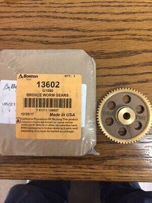 G1040 Boston Worm Gear 14.5 Pa 60 Teeth 516 Bore 601 Ratio