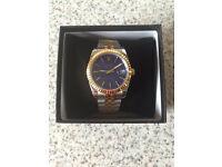 Rolex Datejust Automatic Two Tone Stick Markers with Blue Dial-18K Plated Gold Movement