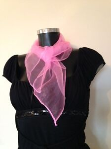 50s PINK NECK SCARF, PINK LADY, GREASE, NECK TIE FANCY DRESS ACCESSORY