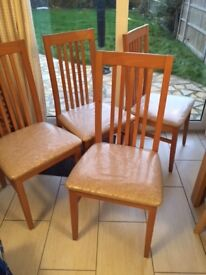 Dining Chairs x 4 great condition