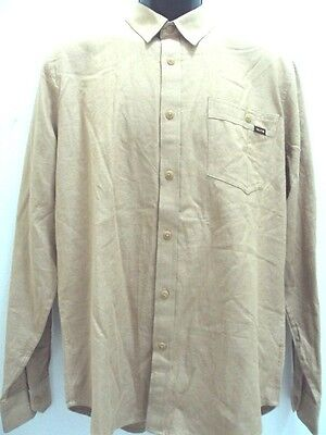 Volcom Shirt Khaki (RP$59.50 NEW VOLCOM SURF MEN POWELL L/S SHIRT BROWN KHAKI size M MEDIUM UU58 )