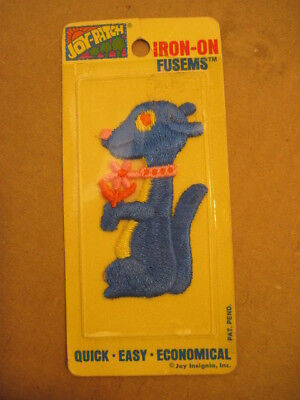 NIB OLD JOY PATCH IRON-ON FUSEMS EMBROIDERED PATCH BLUE SQUIRELL