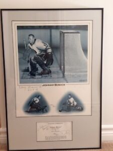 Johnny Bower Maple Leafs NHL HOF Legend Signed 16x20 Photo