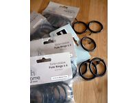 Curtain rings 48 X Black Gloss effect Metal Curtain pole Rings for 25/28mm pole