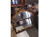 Gilt rococo gold mirror