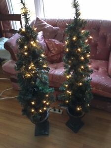 NOMA Indoor/Outdoor LIGHTED PORCH TREES - set of 2 (4feet high)