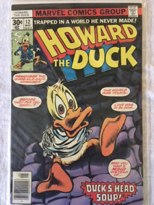 HOWARD THE DUCK #12 and #13 comic books - 1st appear. of KISS !