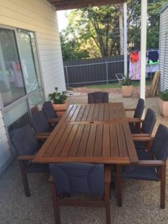 Devon Kwila Hardwood Dining Table & 8 Chairs Moana Morphett Vale Area Preview
