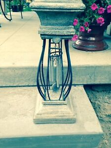 Wind chime/candle holder