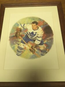 Toronto Maple Leafs Syl Apps Canada Post Framed Lithograph