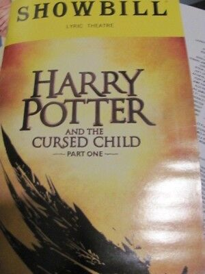 Harry Potter And The Cursed Child Playbill Part 1 U S  Ny Premiere Broadway