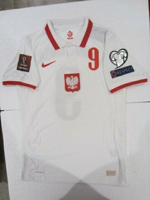 NIKE R. LEWANDOWSKI POLAND EURO WC QUALIFIERS VAPOR MATCH HOME JERSEY 20202021