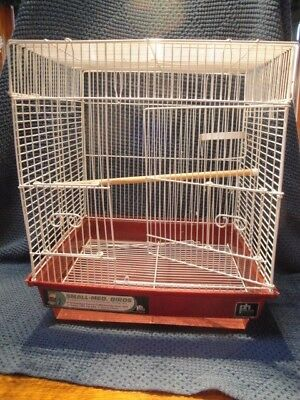 Prevue Hendryx Bird Cage 18 x 16 x 14 METAL WITH PERCH & DISH HOLDER
