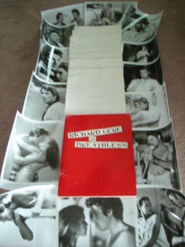 BREATHLESS Original 1983 Press Kit w/14 Stills  Richard Gere & Valerie Kaprisky