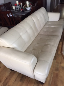89 inch  leather couch