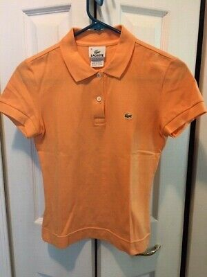 Women's Lacoste Short Sleeve Polo Shirt Size 36