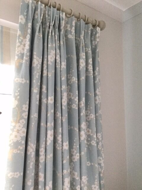 laura ashley dress curtains in lori duck egg print 2. Black Bedroom Furniture Sets. Home Design Ideas