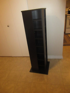 4-Sided Rotating CD Tower/ Black