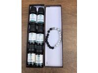 Set of 6 oils & Leopard lava bracelet